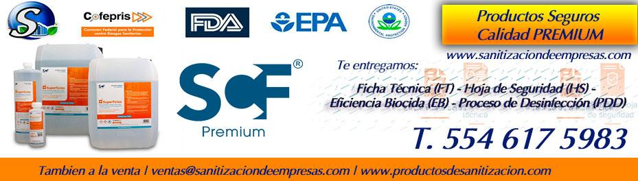 scf -sanitizante en venta para superficies - certificado epa